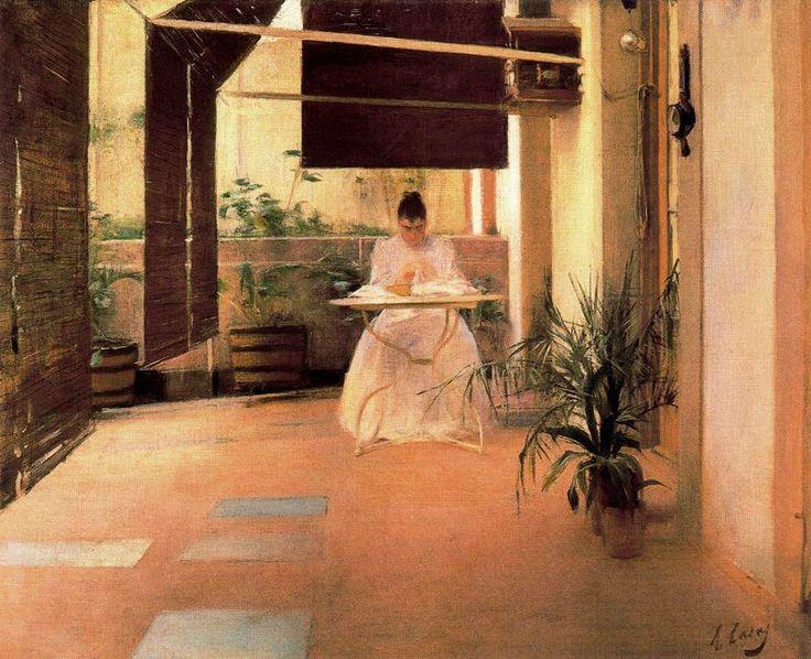 Un patio, 1889- Ramon Casas i Carbó (Barcelona, España, 1866-1932)