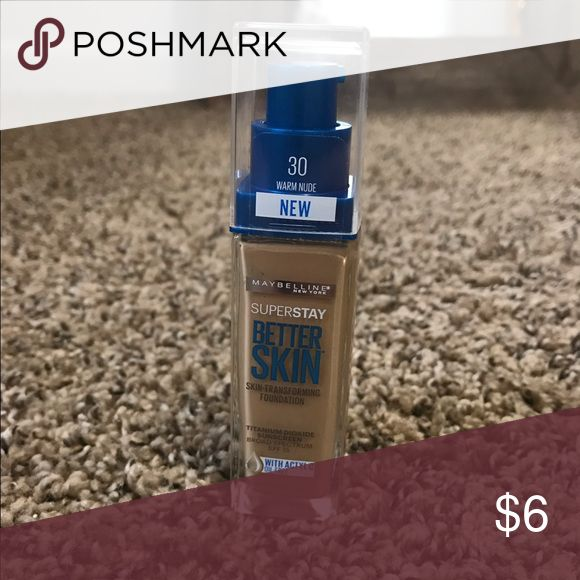 Maybelline Superstay Better Skin Shade 30! Never been used! Brand new! Makeup Foundation