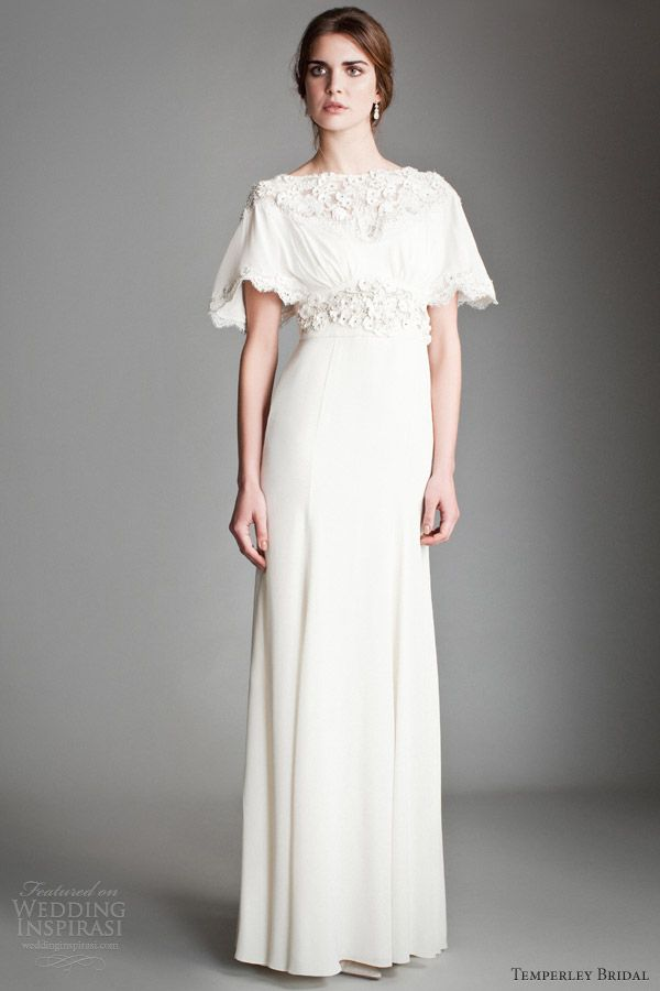 temperley wedding dresses 2014 bridal peony fluted sleeve gown