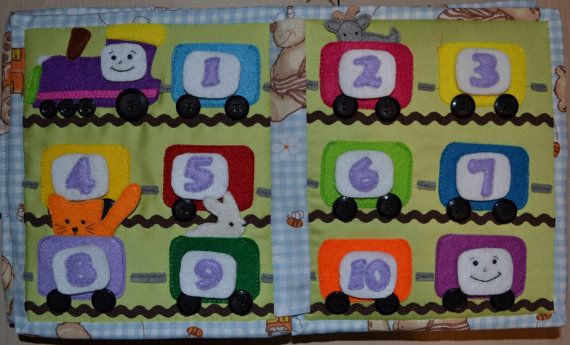 Quiet book Carte senzoriala Развивающая книжка от Mtales на Etsy