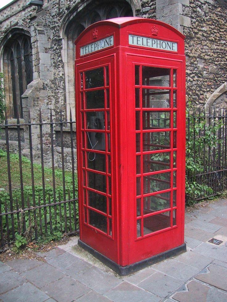 Your typical British telephone booth - Dr. Who fans may be tempted to try time travel by stepping in!