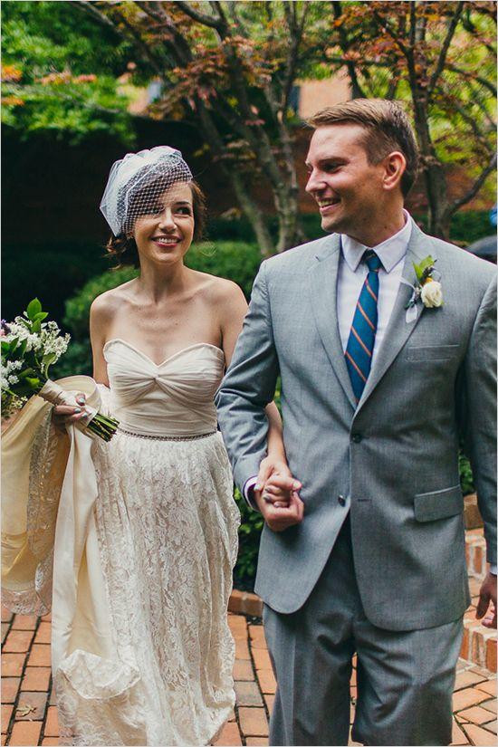 Modern Mint And Peach Wedding. Low Key ...
