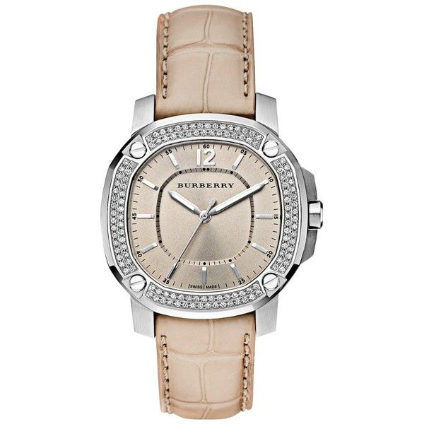 The Burberry Britain BBY1400 38mm Quartz (33.310 NOK) ❤ liked on Polyvore featuring jewelry, watches, accessories, bracelets, relojes, burberry, orologi, acessorios, relógios and nakit