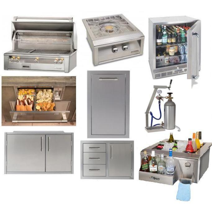 Alfresco 8 Piece Outdoor Kitchen Package The Outdoor Store Luxury Outdoor Kitchen Outdoor Kitchen Alfresco
