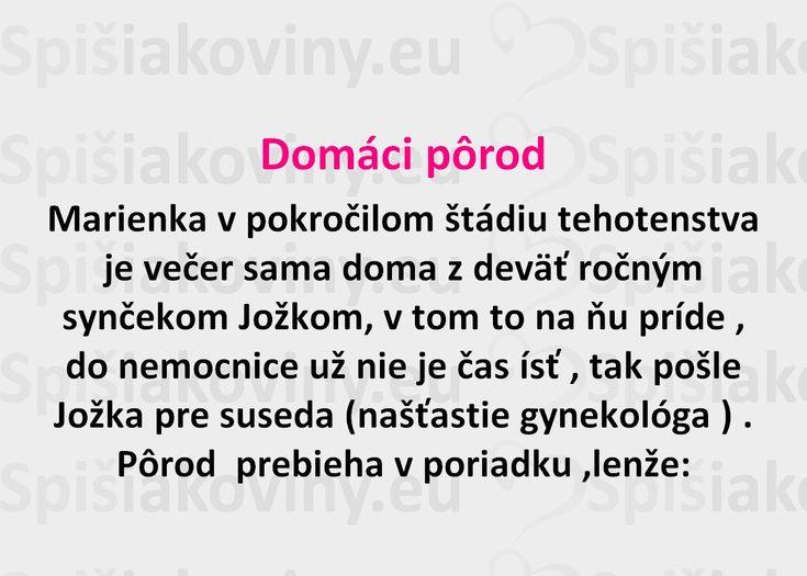 Domáci pôrod - Spišiakoviny.eu