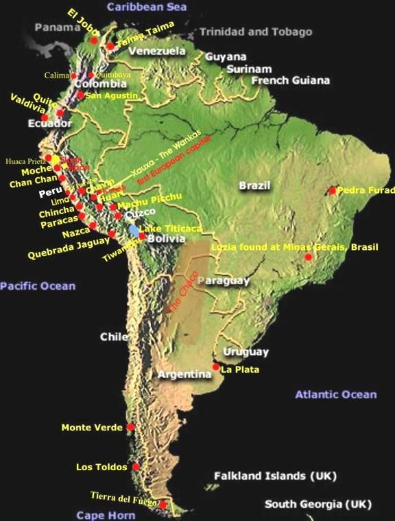 Pin By Narayana Moorthy On Ancient Civilizations South America Map