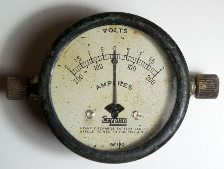 """VINTAGE CRYPTON """"AMPERES"""" volts  - HEAVY DISCHARGE BATTERY TESTER"""