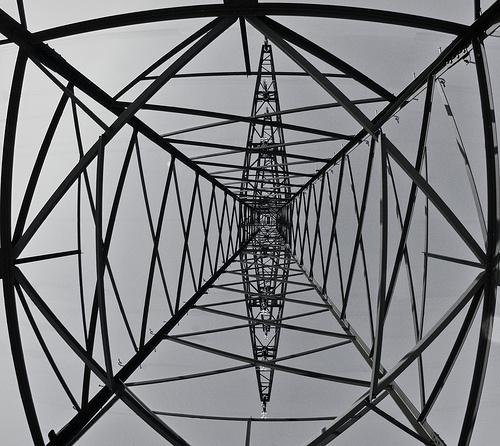 framework in black and white #photography #architecture  #power mast