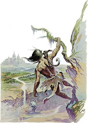 Tarzan, Of The Apes. From The Tarzan Books.