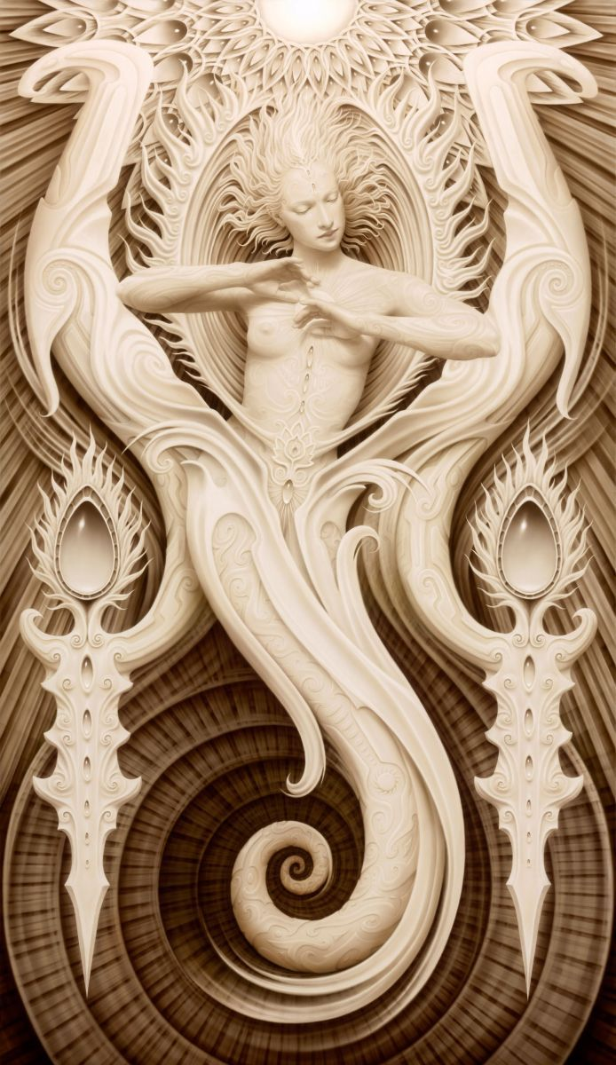 A. Andrew Gonzalez.. This makes me thing mermaid, medusa, sun, and dragon all at the same time. So interesting...