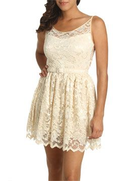 Lace Fit Flare Dress