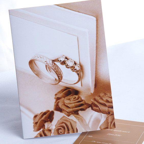 romantische Ringe und Rose einladungen