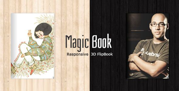 MagicBook - 3D Responsive Flip Book HTML Theme