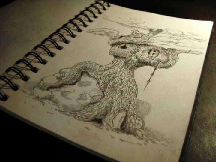 Daily sketch, A treehouse