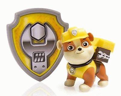 Paw Patrol badge Rubble