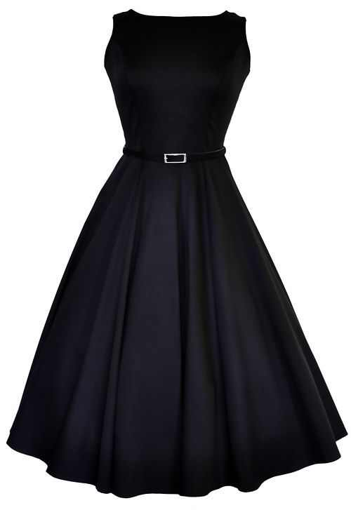 Classic Audrey Hepburn Dresses | LADY VINTAGE AUDREY HEPBURN DRESS Classic Glam Black Swing ROCKABILLY ...