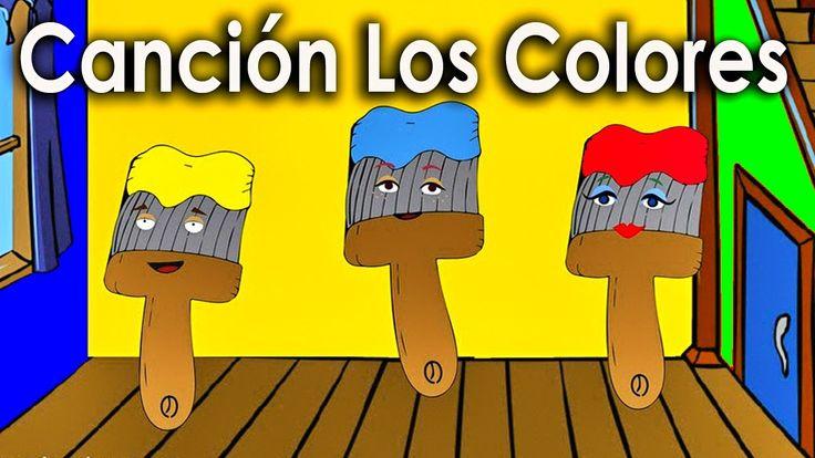 La Cancion de los Colores para niños - Rondas Infantiles - Videos Educa...