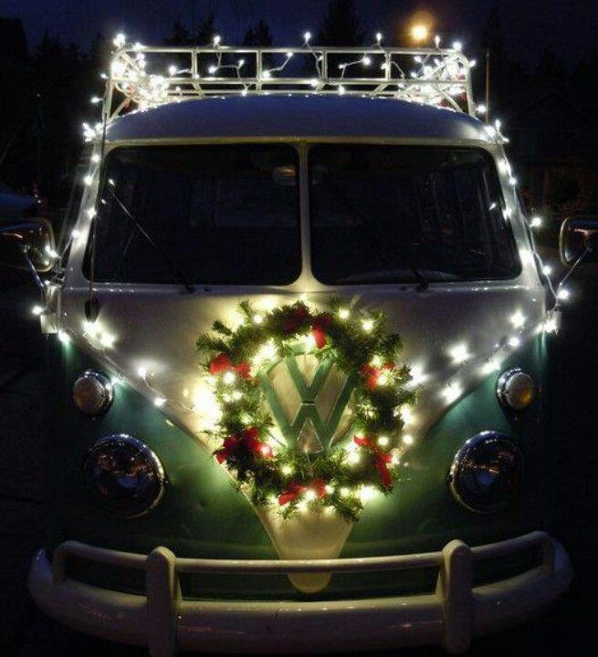 VW van with Christmas #kombilove / Check out more from Charter Arms on Pinterest or visit our web-sight at  CharterFireArms.Com