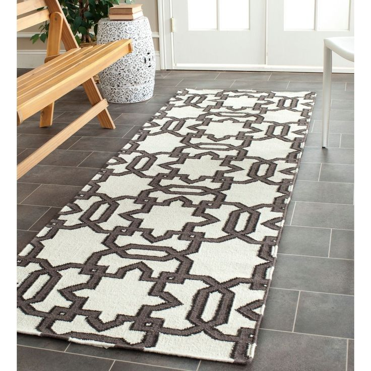 Morrocan Inspired Design And Dense Hand Woven Wool Pile Highlight This  Handmade Dhurrie Rug.