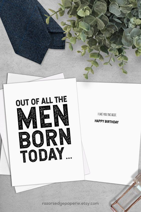 Printable Funny Birthday Card For Him Best Friend Gift For Men Instant Download The Best Funny Birthday Cards Free Printable Birthday Cards Birthday Cards For Men