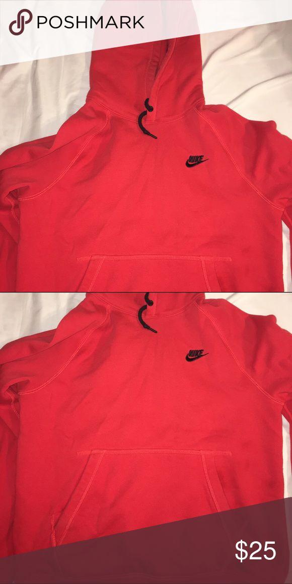 Red, Nike hoodie Red, comfortable, Nike, men or women, medium Nike Tops Sweatshirts & Hoodies
