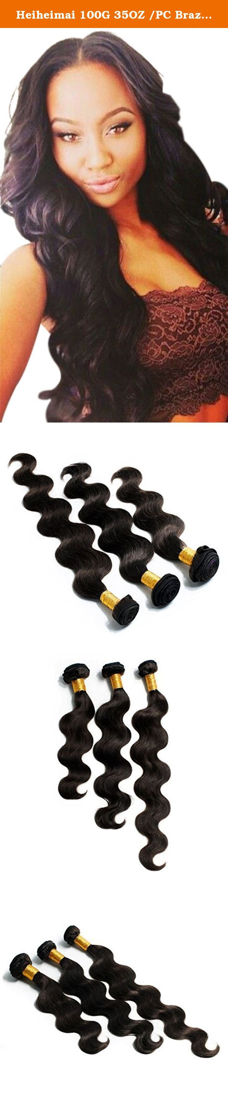 """Heiheimai 100G 35OZ /PC Brazilian Kinky Curl Human Hair Pack of 3 (16""""18""""20"""", Natural#). 1.100% true hair weave, no mixed 2.Full cuticle, softest and smoothest, no tangle 3.Our company have different grades hair 4.Soft, popular, fashion, and slim and so on are some advantage of product ."""