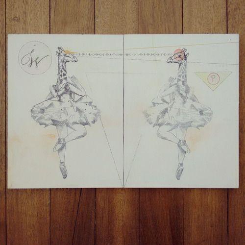 """De la serie """" Original Vs Copia  : """" T.E.M.I.R.O.A.L.O.S.O.J.O.S """" """" #Himallineishon #art #ballerina #animal #jirafa #jiraffe"""