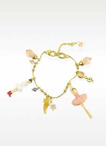 Les Nereides  Ballerinas Charm Bracelet