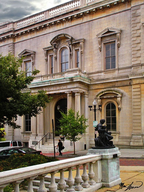 Peabody Institute, Mt. Vernon - This famous music conservatory, now part of Johns Hopkins University, was designed by architect Edmund Lind in the 1860s.