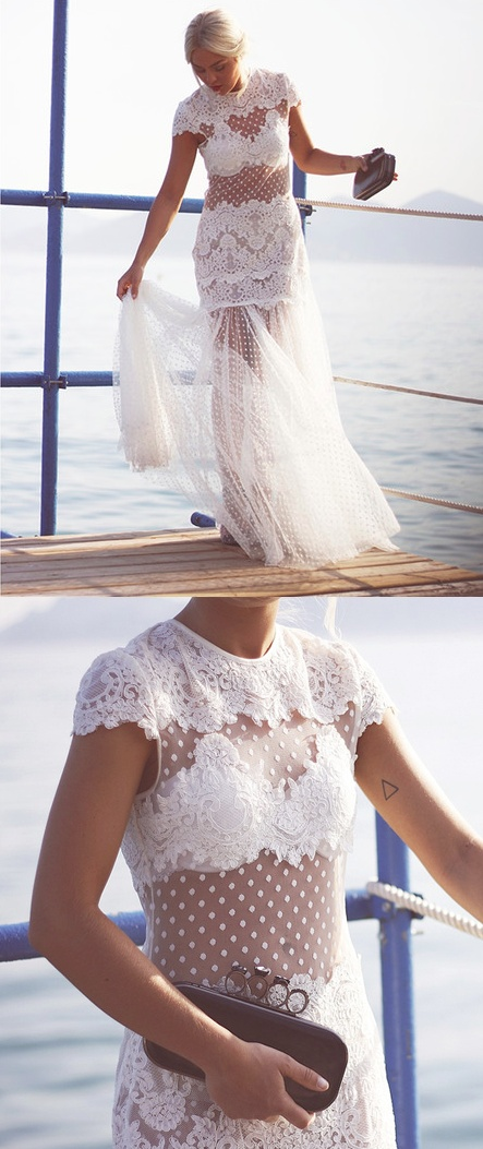 Lace Dress Wedding Pinterest Inspiration