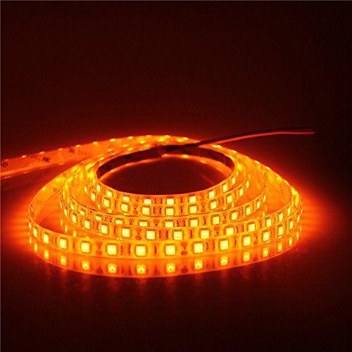 #limited Parameter Model: Orange LED strip light light source: SMD #5050 Emitting Color: Orange FPCB color:White LED quantity: 60 LEDs/m, 5m 300 LEDs in total Pr...