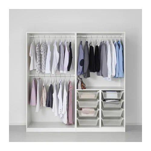 PAX Wardrobe white, Tyssedal white 200x60x201 cm Pax