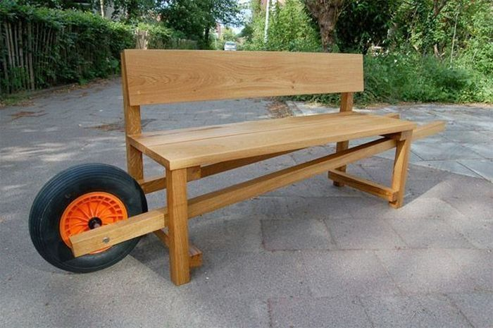 Cool way to easily move benches around...build 'em to!!