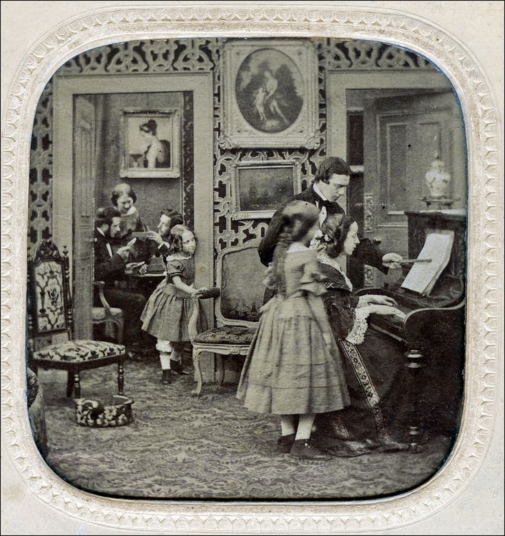 Piano lessons, 1860. I keep looking at these old photos wondering if they are my family (from Baltimore, Md.).