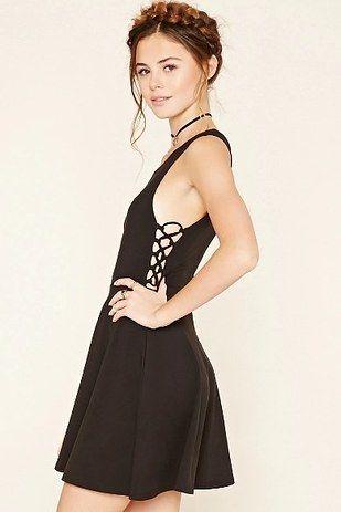 Crisscross-Side Skater Dress, $15.90 | 28 Summer Dresses For People Who Wear Black Year-Round