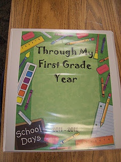 """These are the student portfolios I keep during the school year.  I put important paperwork, progress reports, daily work, etc. in each of the student's portfolio.  To keep the papers divided by month I have the students color each cardstock paper divider and then place it into their portfolio."""