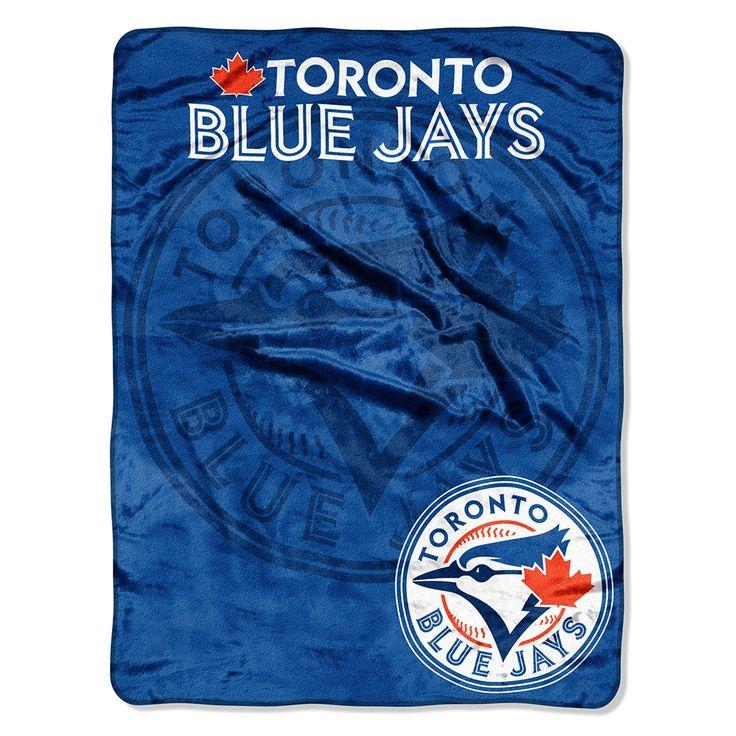 Toronto Blue Jays Micro Raschel Blanket (Triple Play Series) (46x60)  #torontobluejays #bluejays #aleastchamps #bluejaysblanket   Purchase: http://www.mysportsdecor.com/toronto-blue-jays-micro-raschel-blanket-triple-play-series-46x60.html