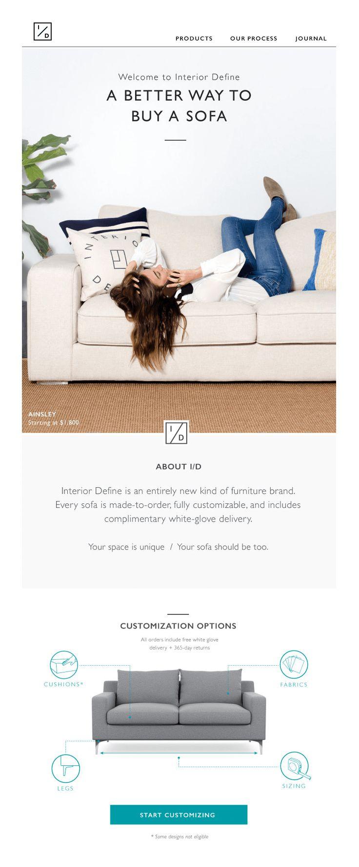 modern furniture brand. 4 Fresh Modern Furniture Email Designs Brand