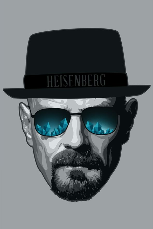 Breaking Bad Fan Art / Heisenberg by Ciaran Monaghan, via Behance