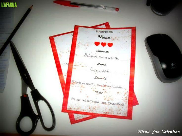 San Valentino: Menu Stampabile