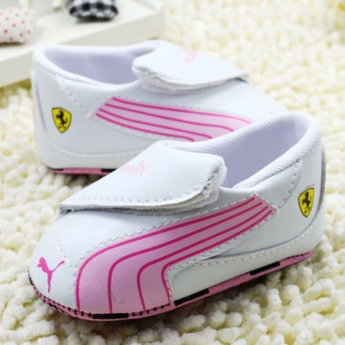 2014 New Cute Puma Baby Toddler Boy Girl Soft Sneaker Velcro Crib Soccer Shoes | eBay
