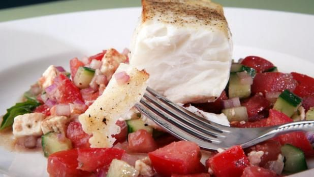 In anticipation of the new season, Nick Stellino has given us a sneak peek of what to expect this season by sharing one of his recipes—Halibut and Fresh Mediterranean Salsa. Plus, Nick shares what this recipe means to him.