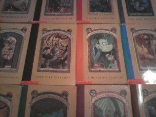 Series of Unfortunate Events Set books #1-9 (The Bad Beginning, The Reptile Room, The Wide Window, The Miserable Mill, The Austere Academy, The Ersatz Elevator, The Vile Village, The Hostile Hospital, The Carnivorous Carnival), http://www.amazon.com/dp/0439651751/ref=cm_sw_r_pi_awdm_h9SMvb1VSYNV3