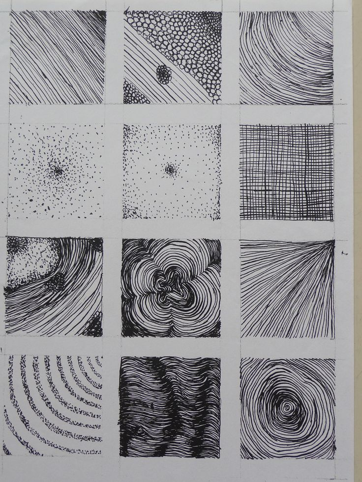 Structuren met pen en inkt: arceren en pointilleren