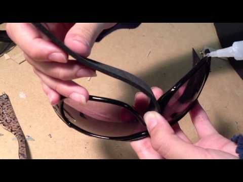 TUTORIAL: Catwoman goggles from The Dark Knight Rises - YouTube