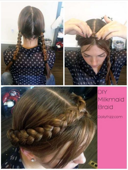 Best Braids Images On Pinterest Cute Hairstyles Braid And - Diy hairstyle knotted milkmaid braid