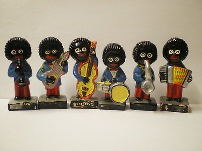 ROBERTSONS GOLLIWOGS My Great Aunty Nancy used to save the coupons from the jam jars and send off for these little golly figures (and brooches.)