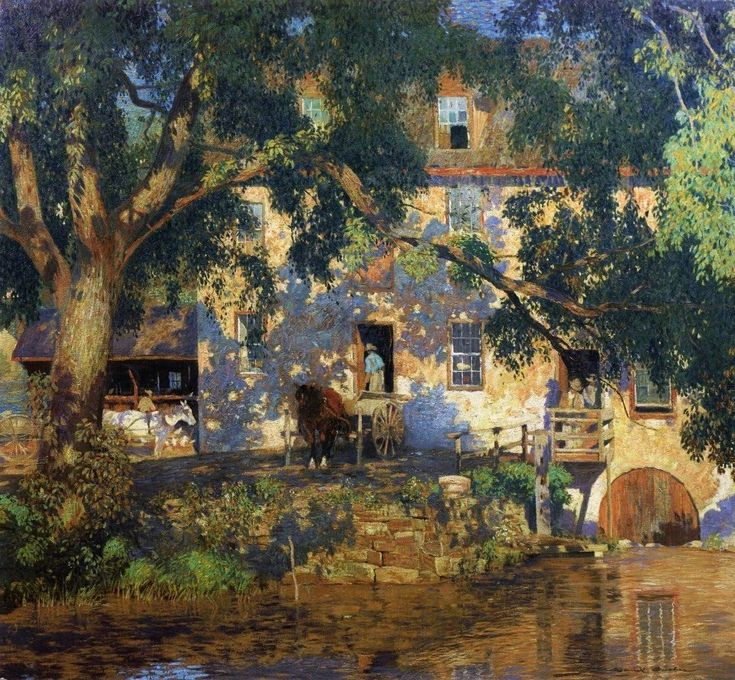 landscape impressionist art paintings | Landscape Painting by American Impressionist Artist Daniel Garber