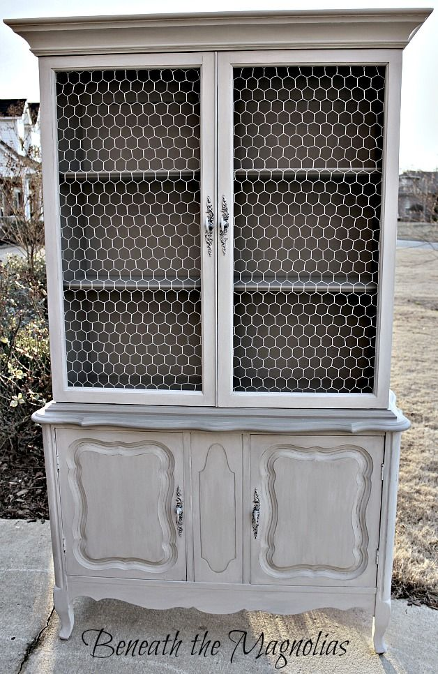 chalk painted china cabinets | Roselawnlutheran