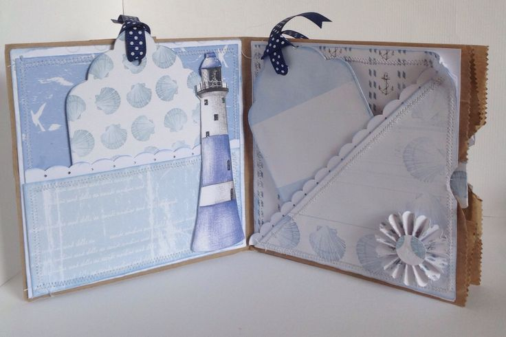 Paper Bag card designed by Kay Fletcher using Harbour Boulevard Paper Pad.